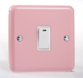 Varilight Pastel 1 Gang 20A Double Pole Rocker Light Switch + Neon Indicator Light Rose Pink XY20NW.